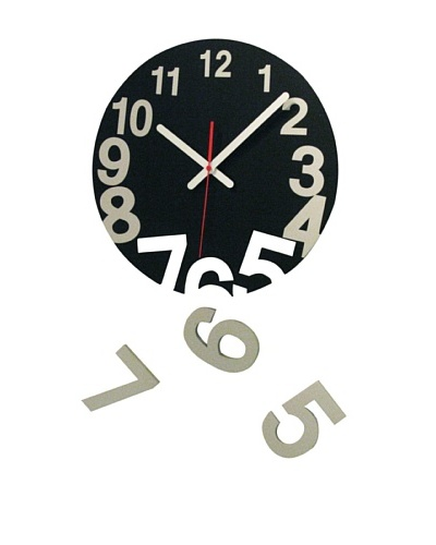 World Friendly World Gravity Wall Clock, Black