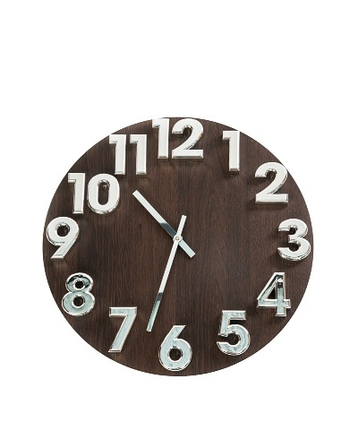 World Friendly World 3-D Numbers Wall Clock