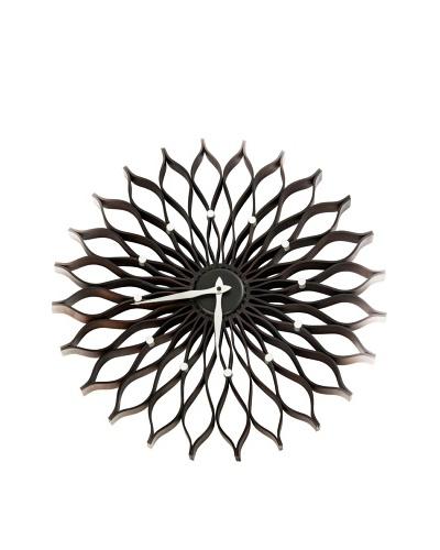 World Friendly World Sunflower Nelson Wall Clock, EspressoAs You See