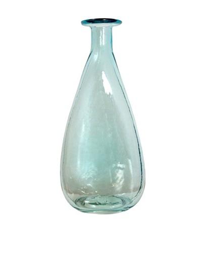 Worldly Goods Marlene Mouth Blown Small Glass Bottle, Sky