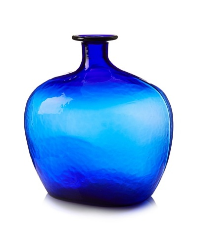 Worldly Goods Mouth Blown Mega Glass Bottle, Cobalt
