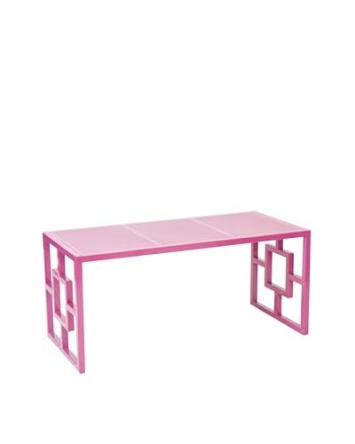 World's Away Charleston Outdoor/Indoor Bench [Pink]