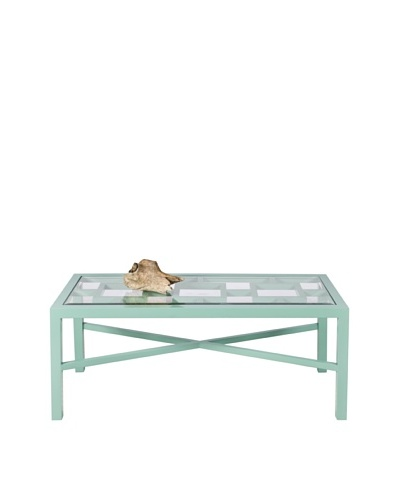 World's Away Winter Harbor Outdoor/Indoor Coffee Table [Turquoise]