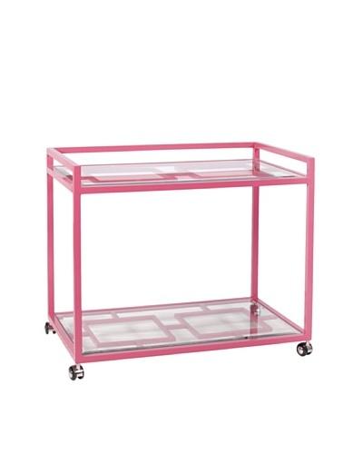 World's Away Hampton Outdoor/Indoor Bar Cart [Pink]
