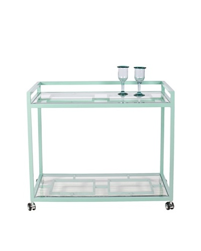World's Away Hampton Outdoor/Indoor Bar Cart [Turquoise]