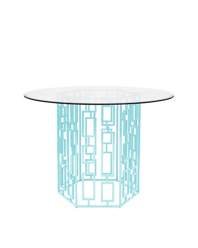 World's Away Jackson Outdoor/Indoor Dining Table [Turquoise]