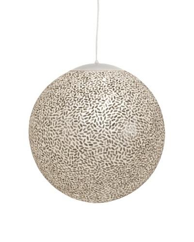 World's Away Rice Capiz Shell Ball Pendant