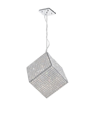 Worldwide Lighting Cube Pendant, Chrome, 12""