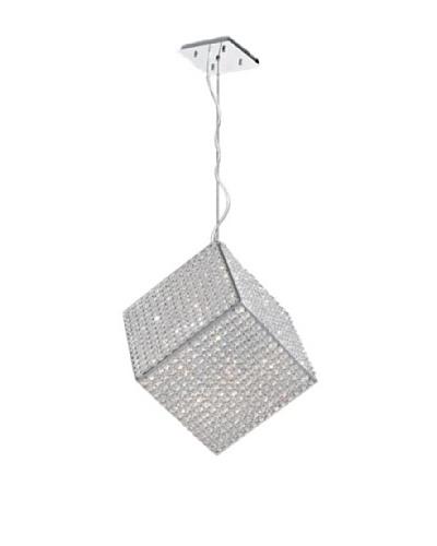 Worldwide Lighting Cube Pendant, Chrome, 12