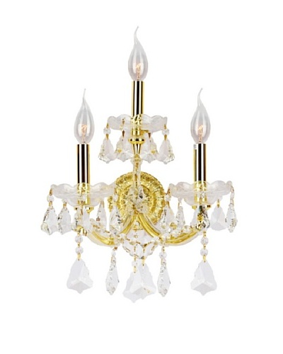 Worldwide Lighting Maria Theresa Wall Sconce, Gold