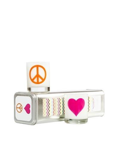 Xela Aroma Perfect Pair Peace/Heart 7.5-Oz. Candle Set