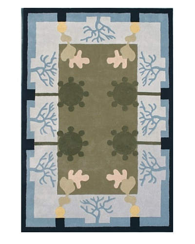 Gardens for XpressWeave Four Seasons Rug [Blue/Tan/Grey/Navy]