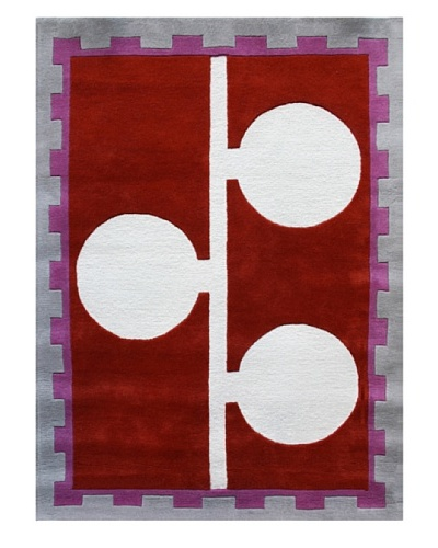 Chivalry for XpressWeave Rose Rug [Red/Lilac/White/Gray]