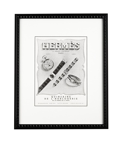 "Hermes watch publicity 1939, 10"" X 13""As You See"