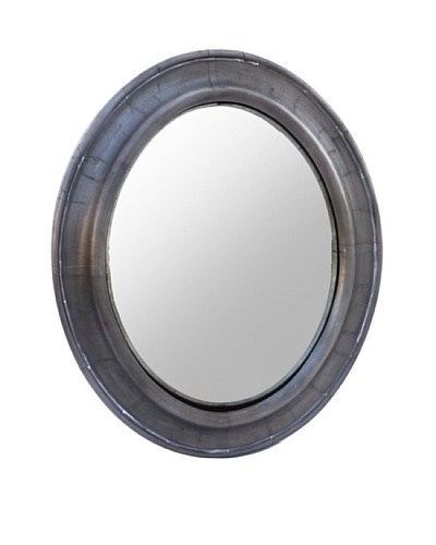 Zalva Metal Wrap-Around Convex Mirror, Steel