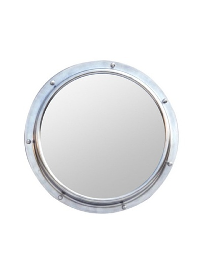 Zalva Porthole Mirror, SteelAs You See
