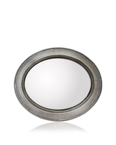 Zalva Metal Wrap Oval Convex Mirror