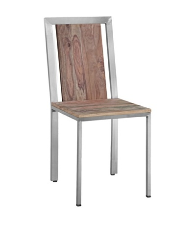 Zalva Sedona Set of Two Dining Chairs, Reclaimed WoodAs You See