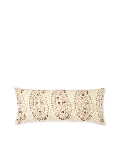"""Zalva Suzani Lumbar Pillow, 14"""" x 33"""""""