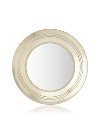 Zalva Round Mirror with Knurling