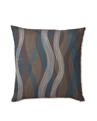 Zalva Seego Charcoal Decorative Pillow, Grey/Blue/Cream, 20 x 20