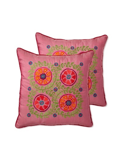 Zalva Set of 2 Antalia Pillows, 18 x 18