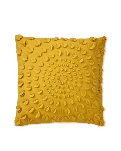 Zalva Aatos Decorative Pillow, Mustard, 20 x 20