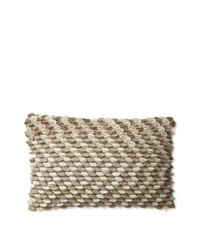 "Zalva Neya Natural Decorative Pillow, Cream/Mocha, 12"" x 20"""