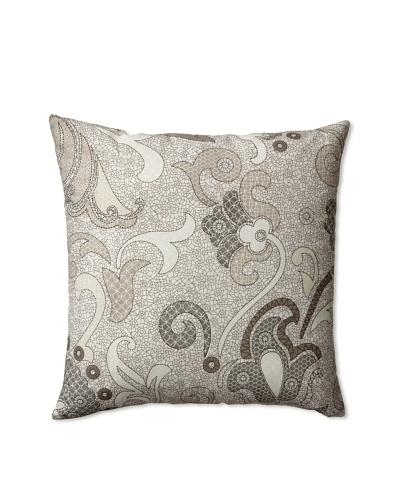 Zalva Colette Decorative Pillow, Grey/Cream/White, 20 x 20