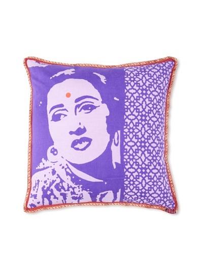 Zalva Bollywood Pillow, Purple, 18 x 18