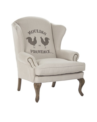 Zentique Zacharie Club Chair, Natural