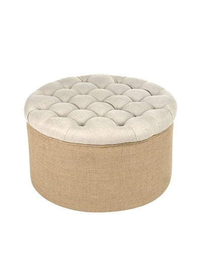 Zentique Round Ottoman, Natural