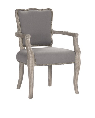 Zentique Elise Arm Chair, Grey/Limed Grey
