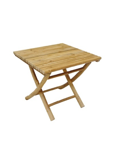 ZEW, Inc. Outdoor Bamboo Collapsible Low Table
