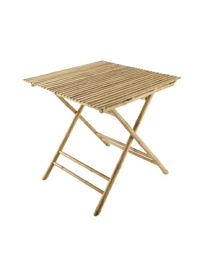 ZEW, Inc. Outdoor Bamboo Collapsible Square Table