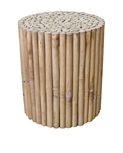 ZEW, Inc. Indoor Bamboo Round Stool