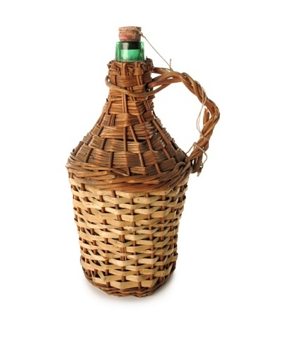 Zingaro Wicker Covered Wine Bottle - Medium, Natural