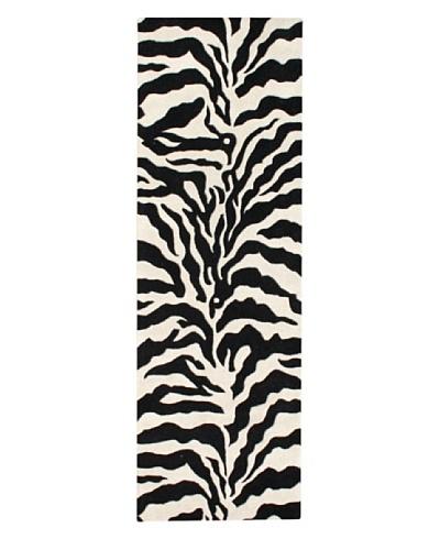 Znz Rugs Gallery Alliyah Rug, Vanilla/Off-White/Black, 3' x 10'
