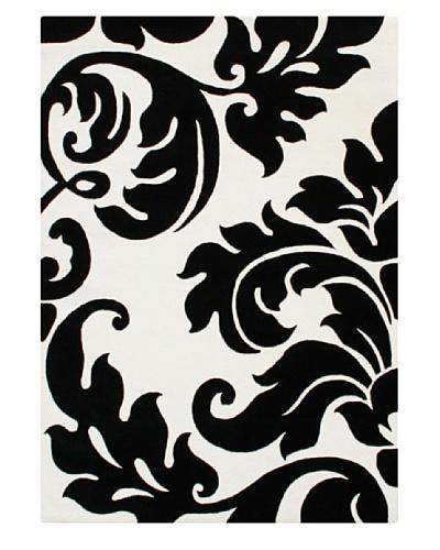 Znz Rugs Gallery Alliyah Rug, Black/Off White, 4' x 6'
