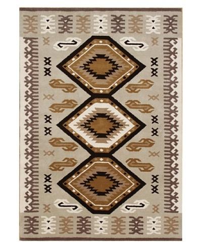 ZnZ Rugs Gallery Alliyah Handmade Rug, Black/Brown/Beige, 5' x 8'