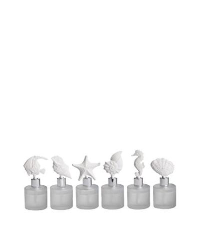 Zodax Set of 6 2.7-Oz. Del Mar Porcelain Diffusers
