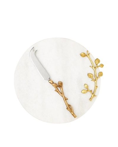 White Marble Cheese Plate and Knife Set