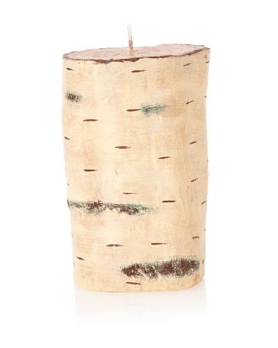 Zodax Birchwood Pillar Candle, Medium
