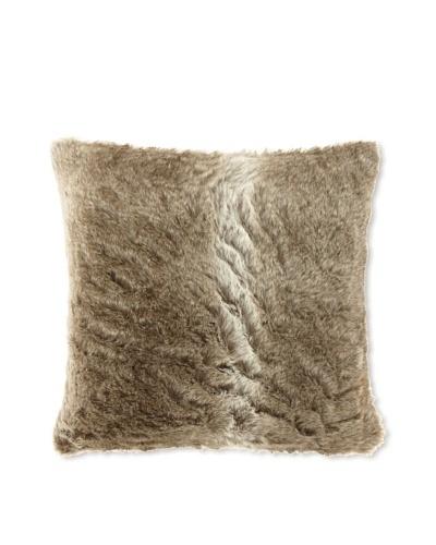 Zodax Faux Fur Throw Pillow, Grey