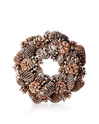 Zodax Autumn Frost Pine Cone Wreath