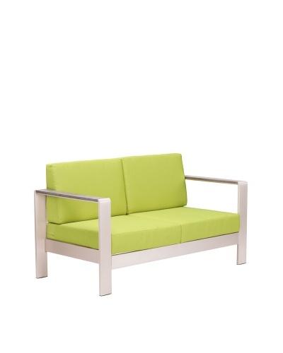 Zuo Outdoor Cosmopolitan Sofa with Cushions, Green