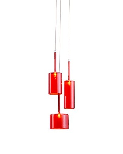 Zuo Lightning Ceiling Lamp, Red