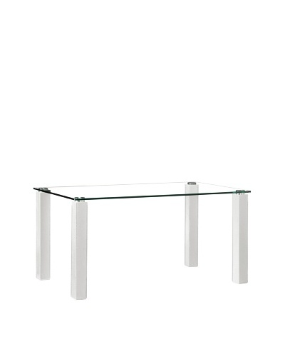 Zuo Flag Dining Table, White