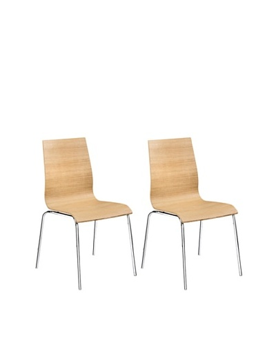 Zuo Set of 2 Tierra Dining Chairs, Natural