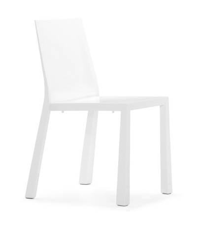 Zuo Set of 4 Popsicle Stacking Outdoor Dining Chairs [White]